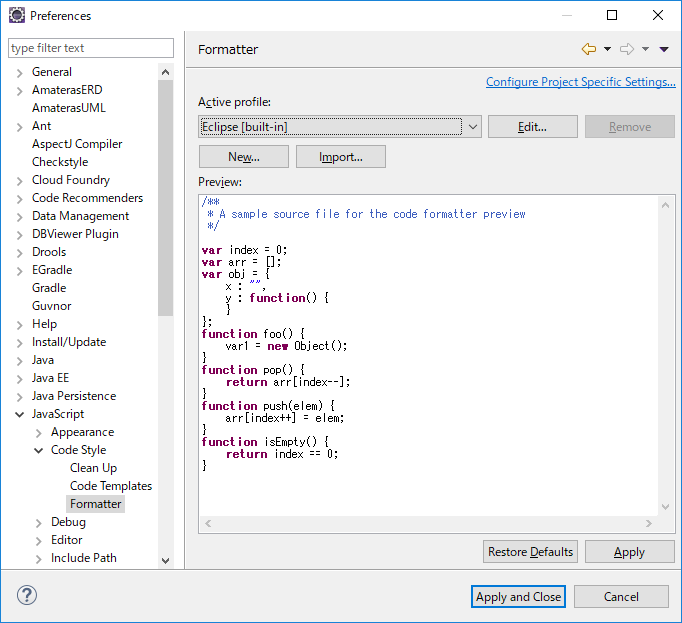 eclipse で簡単フォーマット Java/javascript/HTML/CSS/XML   IT